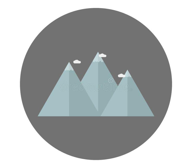 Mountain icon. On white background royalty free illustration