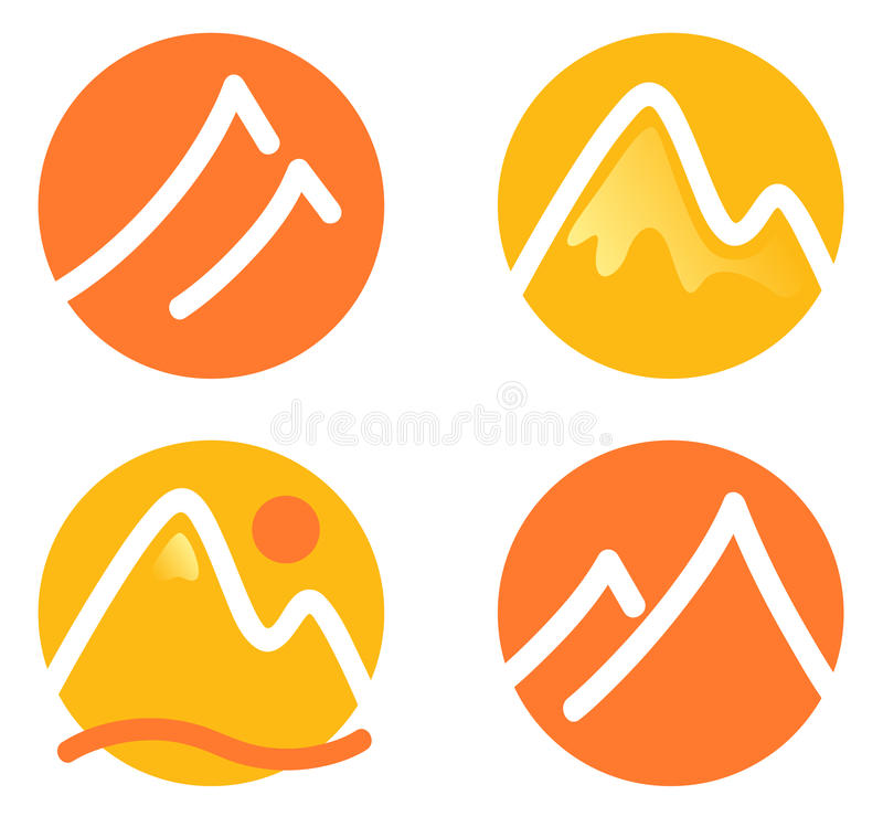 Download Mountain icons set stock vector. Illustration of art - 26460800