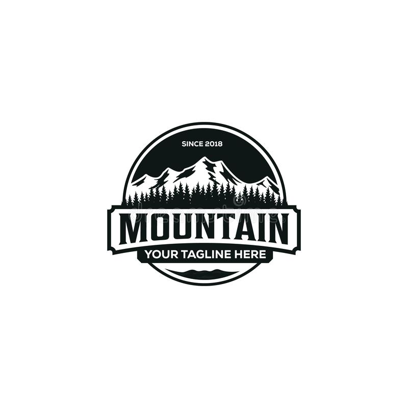 Mountain illustration, outdoor adventure . Vector graphic for t shirt and other uses vector illustration