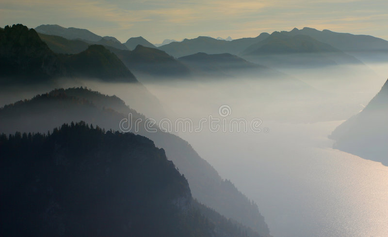Mountain inversion royalty free stock images