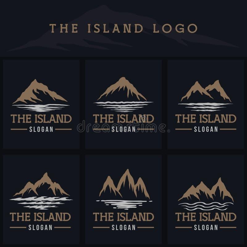 Mountain island logo vector illustration royalty free illustration