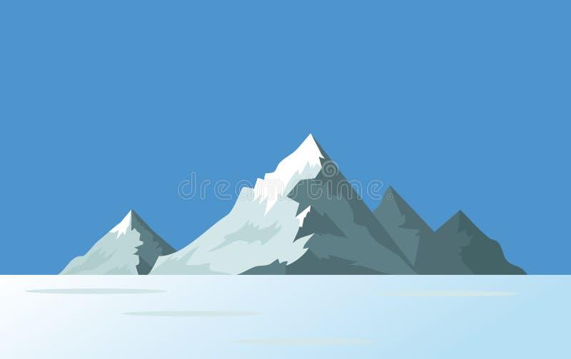 Mountain islands in the ocean or sea. Vector illustration. Mountain rocky islands in the ocean or sea. Vector illustration stock illustration
