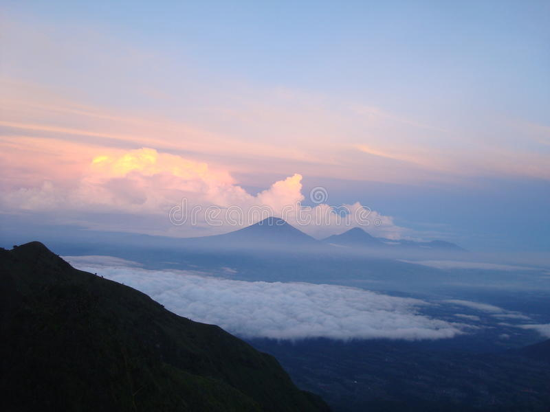 MOUNTAIN JAVA. The natural beauty of the island of Java is the mountain, there are many mountains and crave royalty free stock images