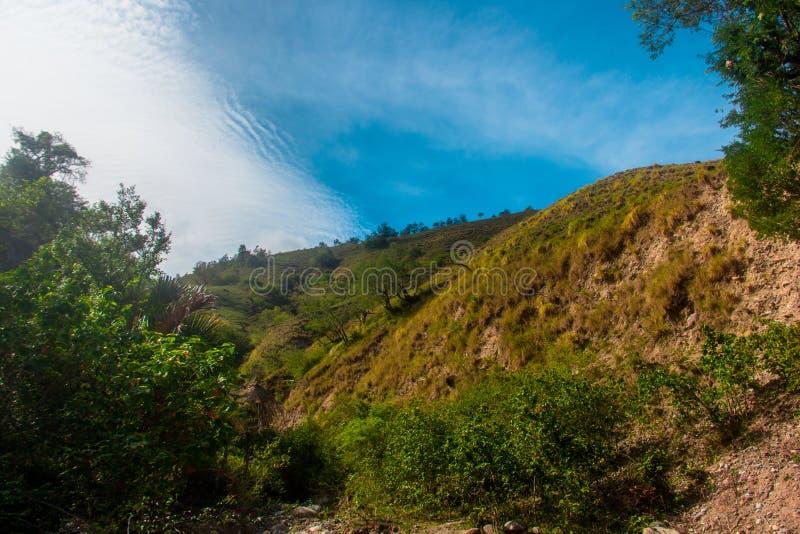 Mountain Kawatuna Landscape i Kawatuna, Palu, Central Sulawesi, Indonesien arkivfoto