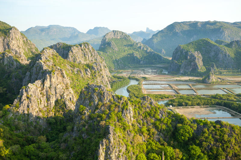 Mountain at Khao Sam Roi Yot National Park. Thailand royalty free stock images