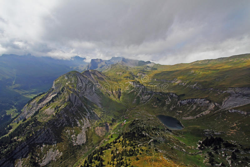 Mountain lac in Switzerland royalty free stock images