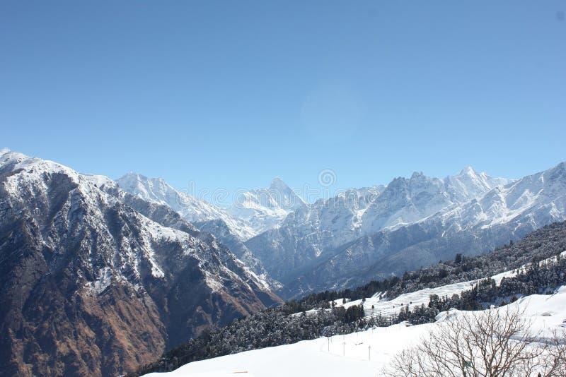 Mountain of lah ladhak, India. Winter time, spirit of morning stock photo