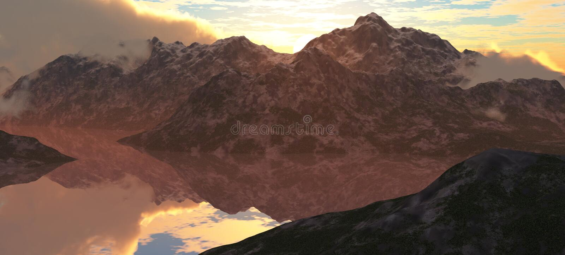Download Mountain Lake stock illustration. Illustration of sunset - 19705196