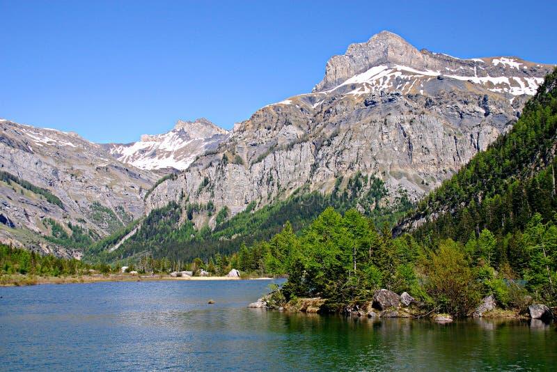 A mountain lake royalty free stock photos