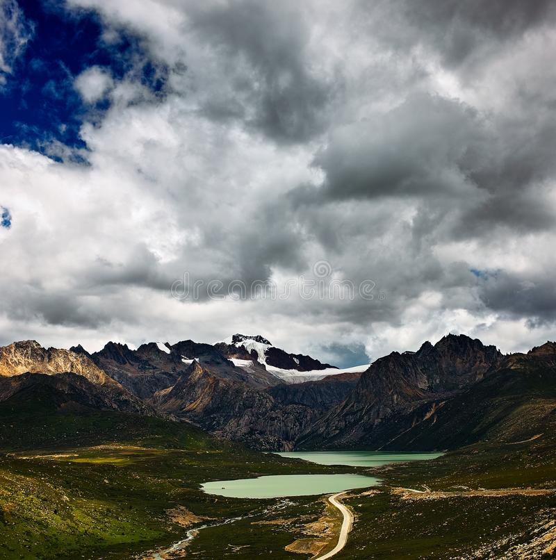 Download Mountain and lake stock photo. Image of road, stone, glacier - 28656574