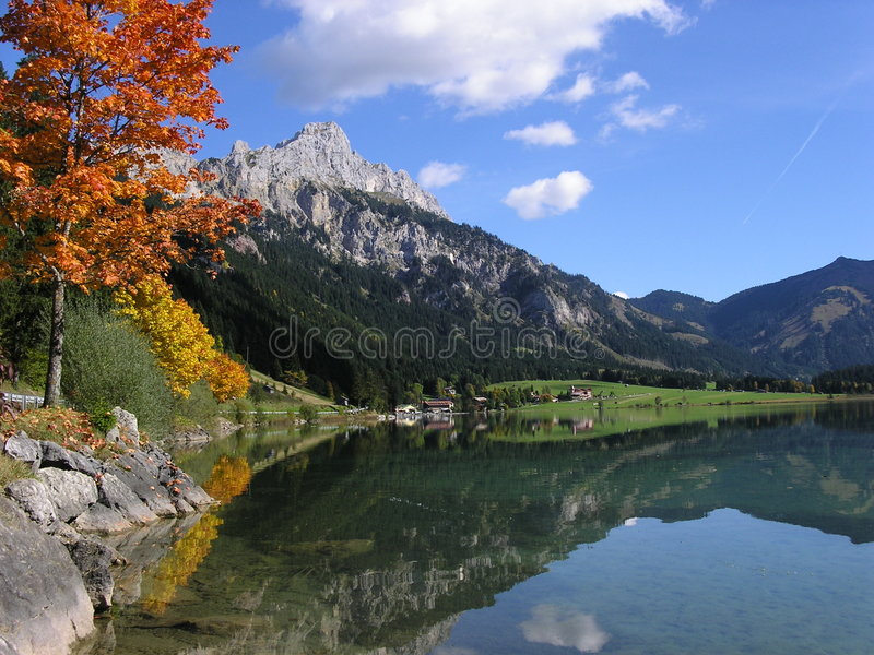 Download Mountain Lake stock image. Image of austria, cloudy, holiday - 472873