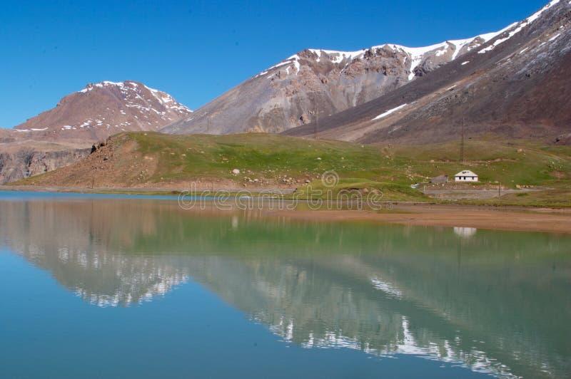 Download Mountain lake stock photo. Image of stone, lake, snow, barskoon - 500152