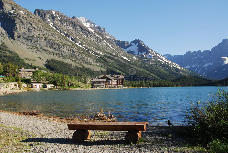 Mountain and lake royalty free stock images