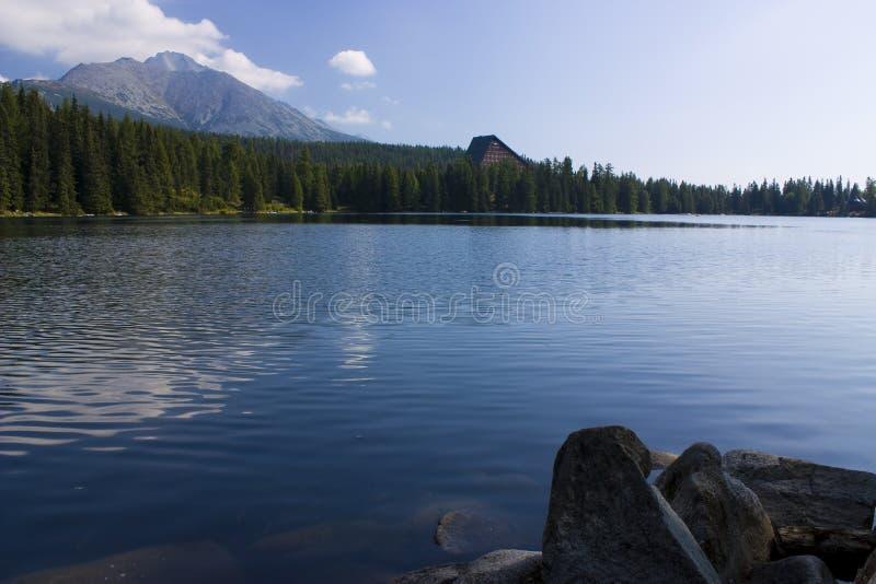 Mountain lake. In National Park High Tatra, Slovakia stock photo