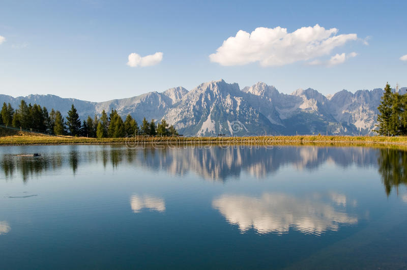 Mountain lake. Alpine mountain lake in Tirol, Austria stock image