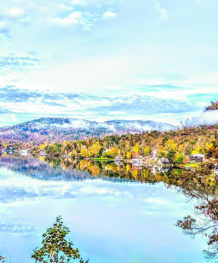 Mountain Lake in Autumn royalty free stock photography