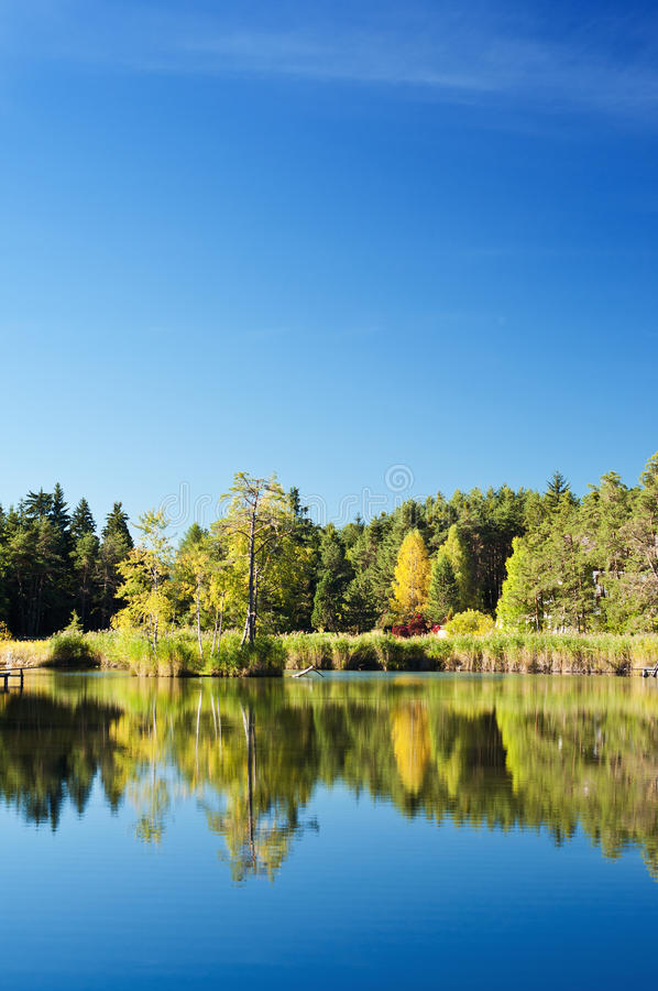 Download Mountain lake stock image. Image of reed, surface, idyll - 34238451