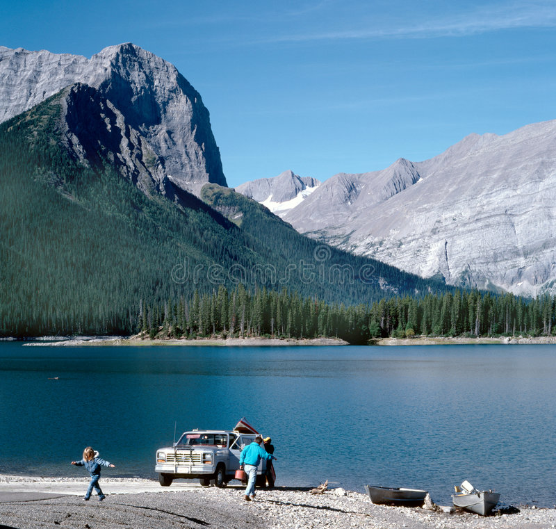 Download Mountain Lake Family Vacation, Canada Stock Image - Image of clean, child: 2266811
