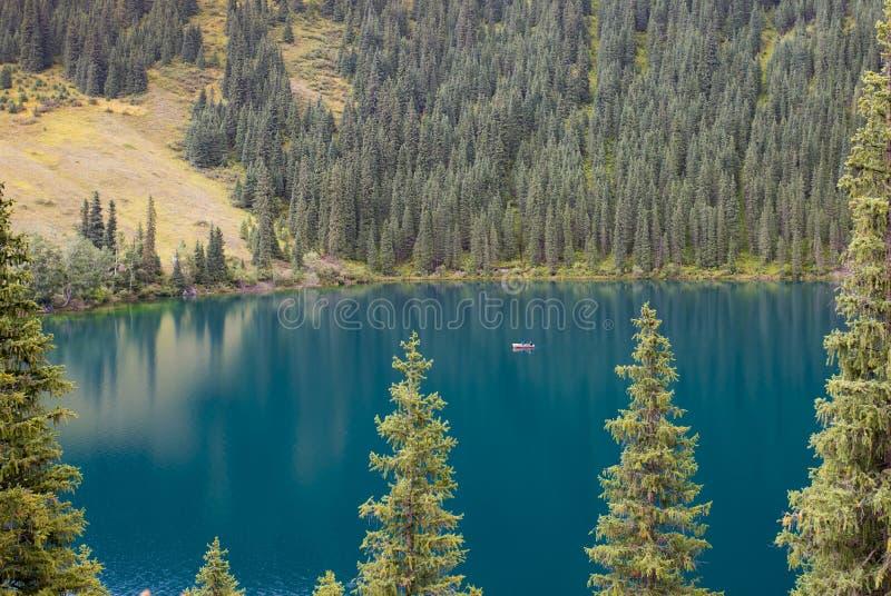Mountain lake, Kazakhstan royalty free stock photo