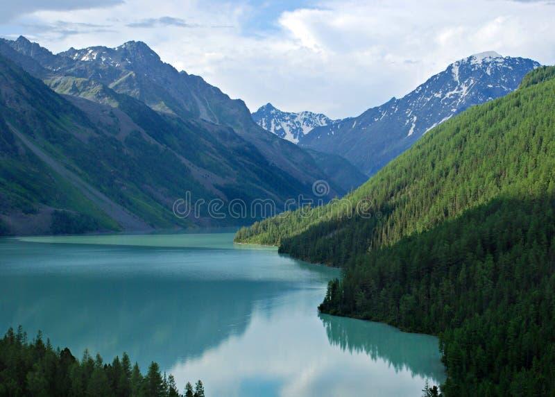 Mountain lake Kucherlinskoe 2. Mountain lake Kucherlinskoe, Altai, Russia, wild landscape, high mountains, beautiful wallpaper royalty free stock images
