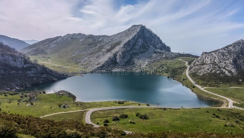Mountain and Lake landscape royalty free stock photo