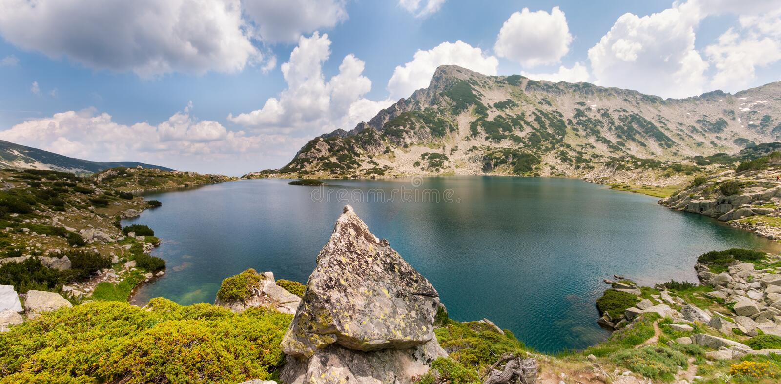 Mountain Lake Landscape Panorama royalty free stock image