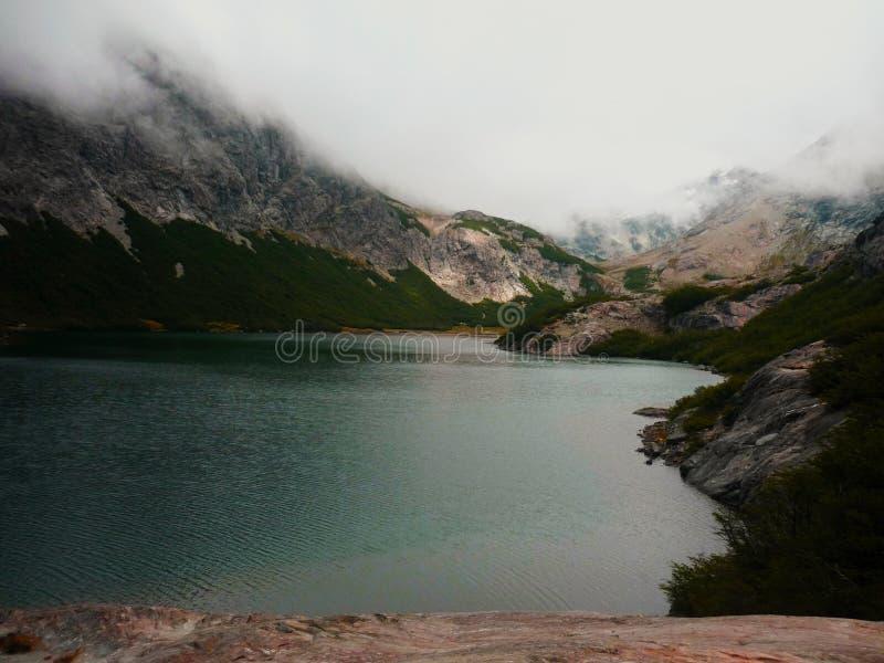 Mountain lake at Nahuel Huapi traverse trek stock photos