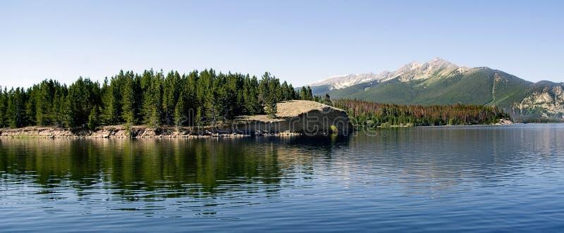 Mountain Lake Panarama stock photos