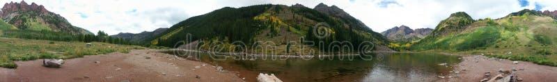 Mountain and Lake Panorama royalty free stock photos
