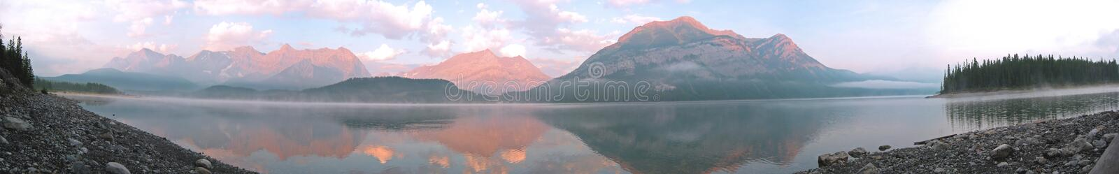 Mountain Lake Panoramic stock photos