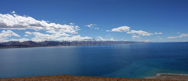 Mountain Lake Panoramic stock photography
