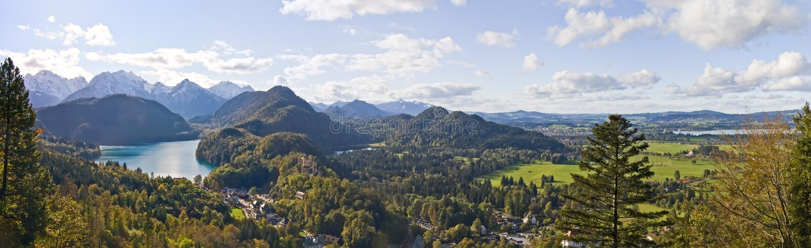 Download Mountain Lake And Panoramic View To Bavarian Alps Stock Image - Image: 24453131