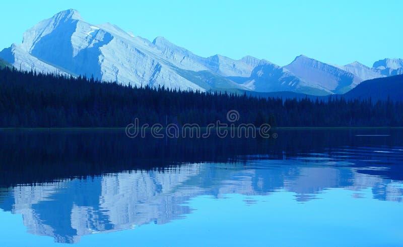 Mountain lake reflection royalty free stock photos