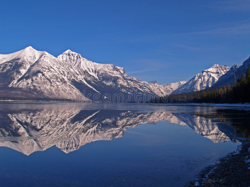 Download A Mountain Lake Reflection stock image. Image of calm - 8887695