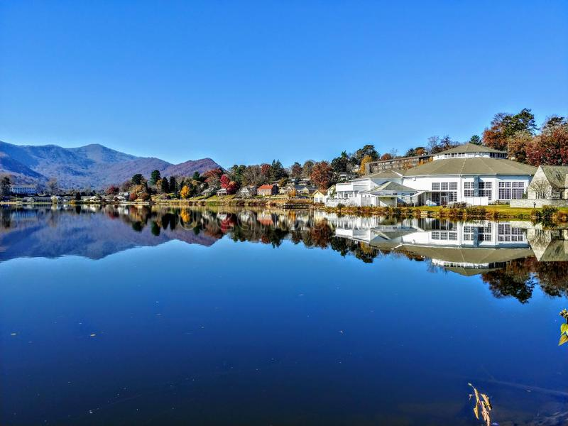Mountain lake with reflection royalty free stock photography