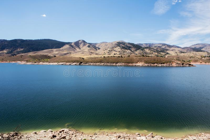 Fort Collins mountain scene royalty free stock image