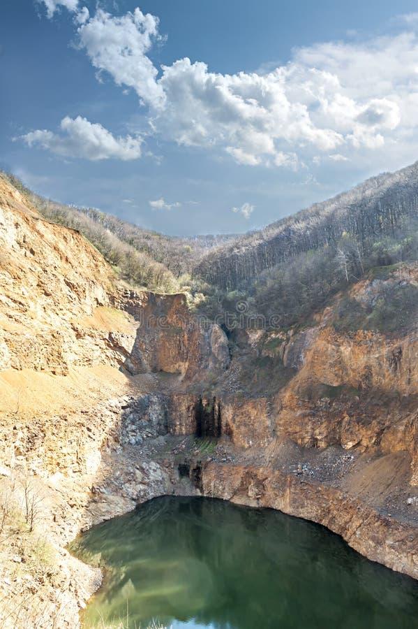 Mountain lake in Stari Ledinci, Serbia. Mountain lake in Stari Ledinci, Fruska Gora, Serbia royalty free stock images