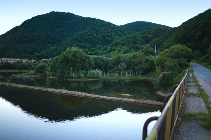 Download Mountain lake after sunset stock image. Image of reflecting - 23693961