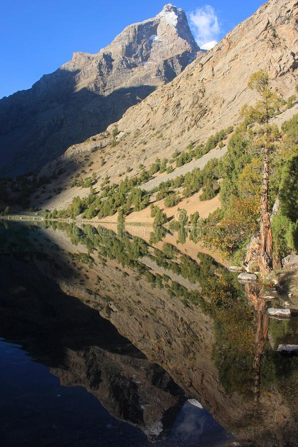 The mountain lake stock photography
