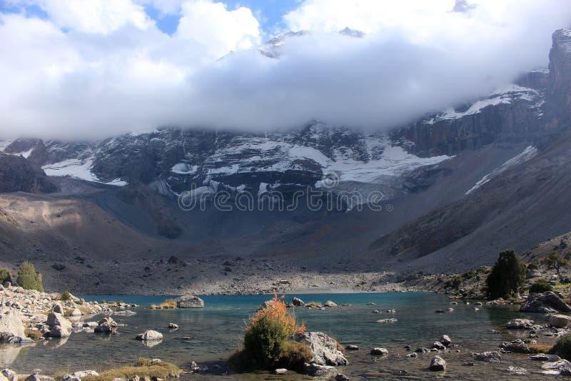 The mountain lake. Fann mountains royalty free stock photos