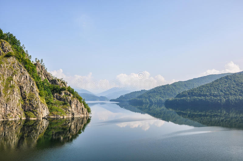 Mountain lake Vidraru royalty free stock photography