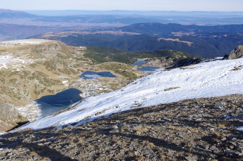 Mountain lakes stock images