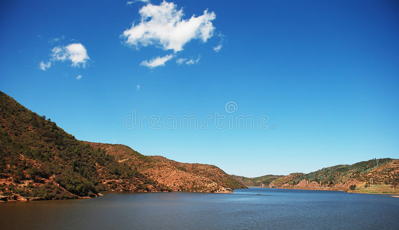 Mountain and lakes royalty free stock photo