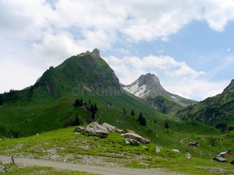 Download Mountain landscape stock photo. Image of beautiful, alps - 314416