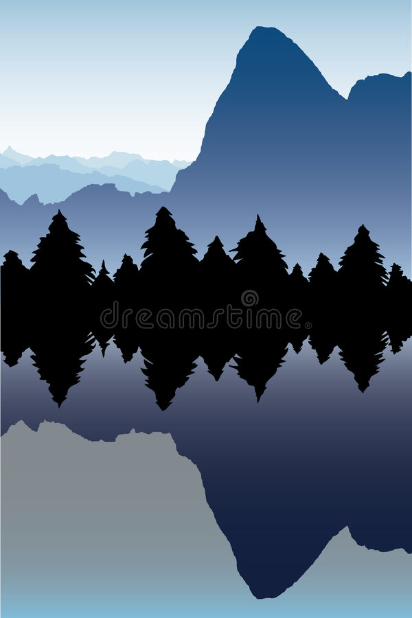 Download Mountain landscape stock vector. Image of windless, spring - 5526793