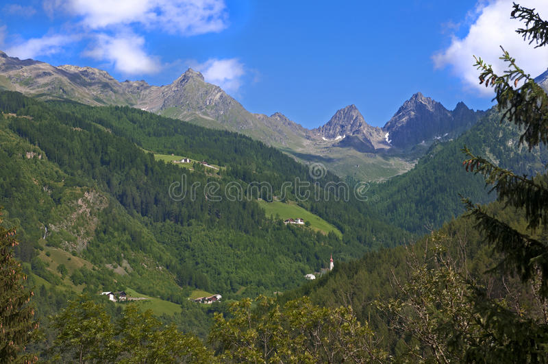 Mountain landscape in Austria Tirol royalty free stock photography