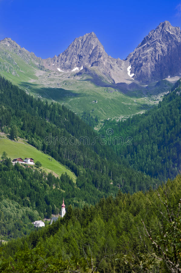 Mountain landscape in Austria Tirol royalty free stock image