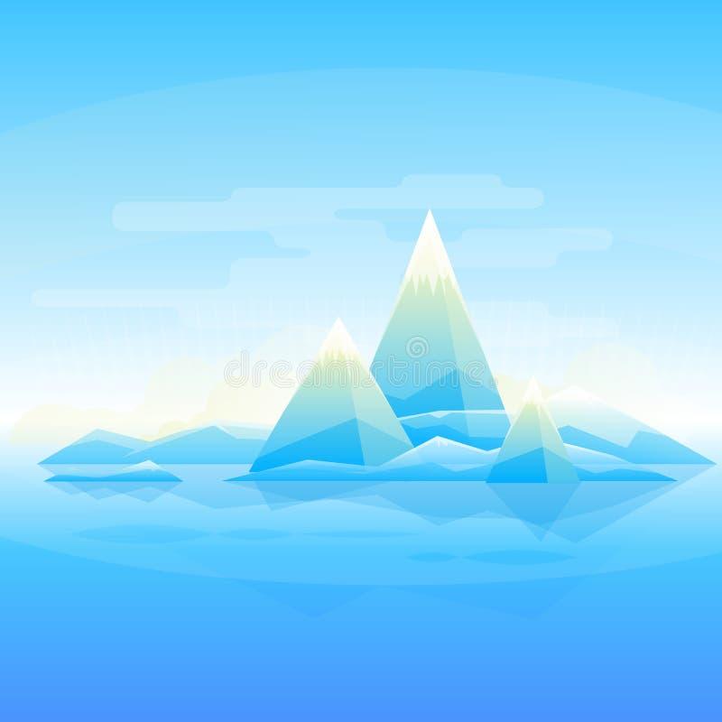 Mountain landscape background stock illustration