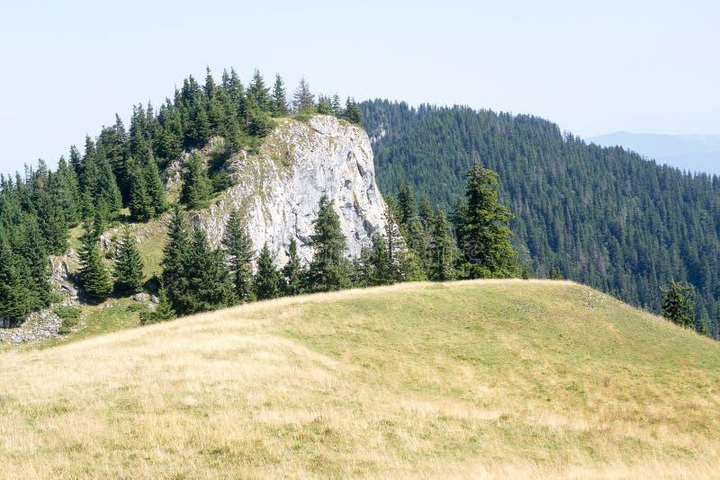 Mountain landscape, Big Rock Mountains. Alpine landscape view, Big Rock Mountains, near Brasov town, Transylvania, Romania stock photography