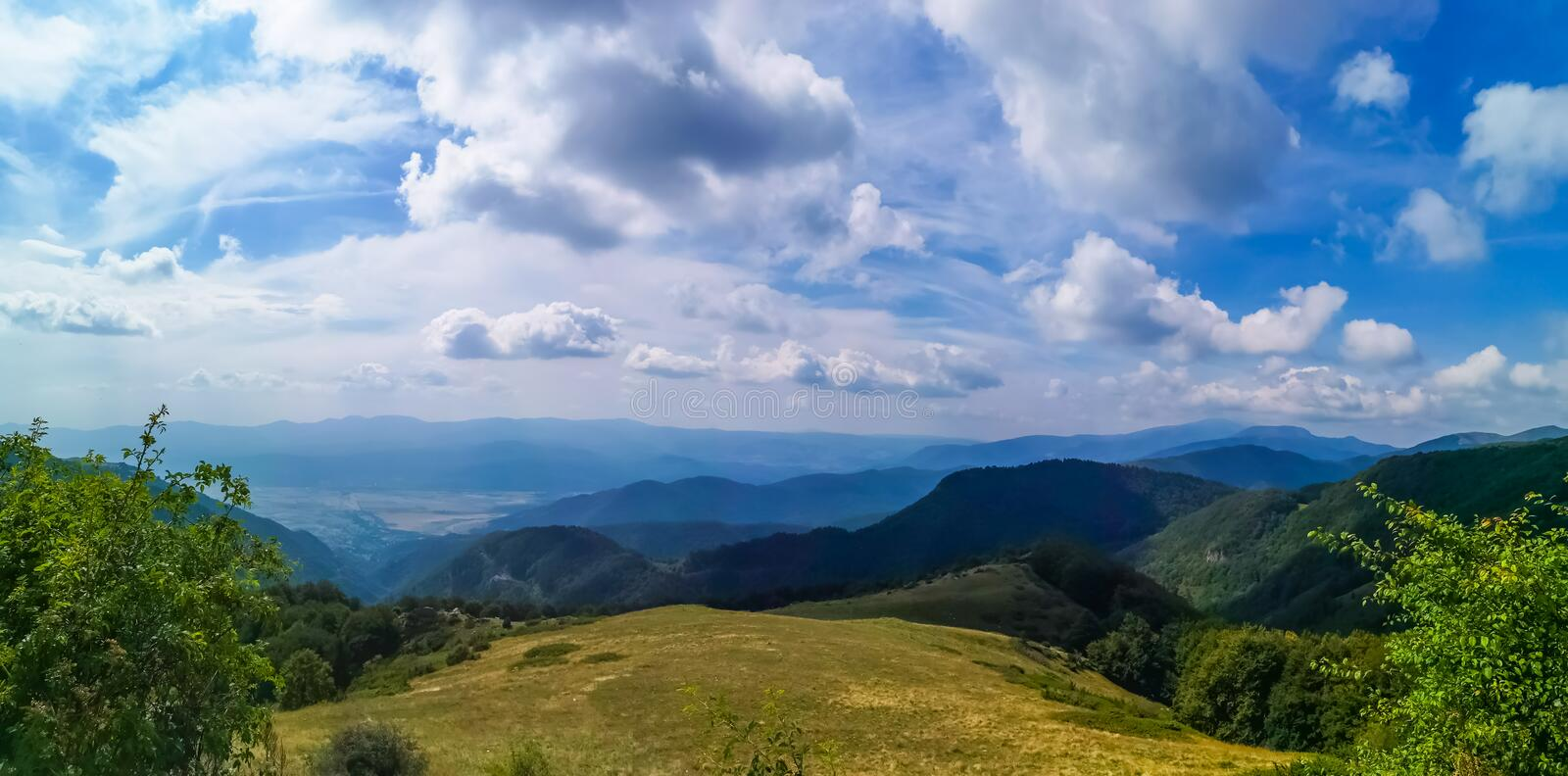 Mountain landscape with blue sky royalty free stock image